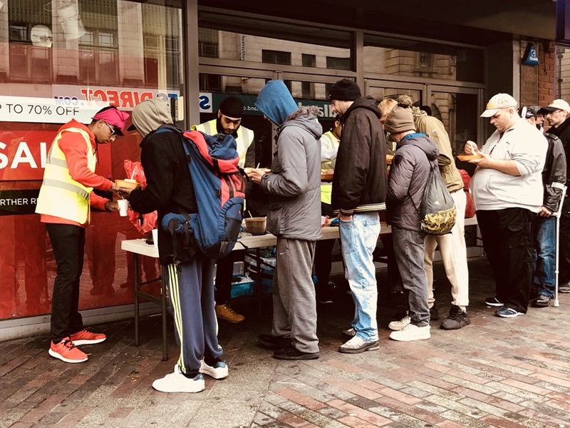 MLSS Walsall feeding homeless with donations